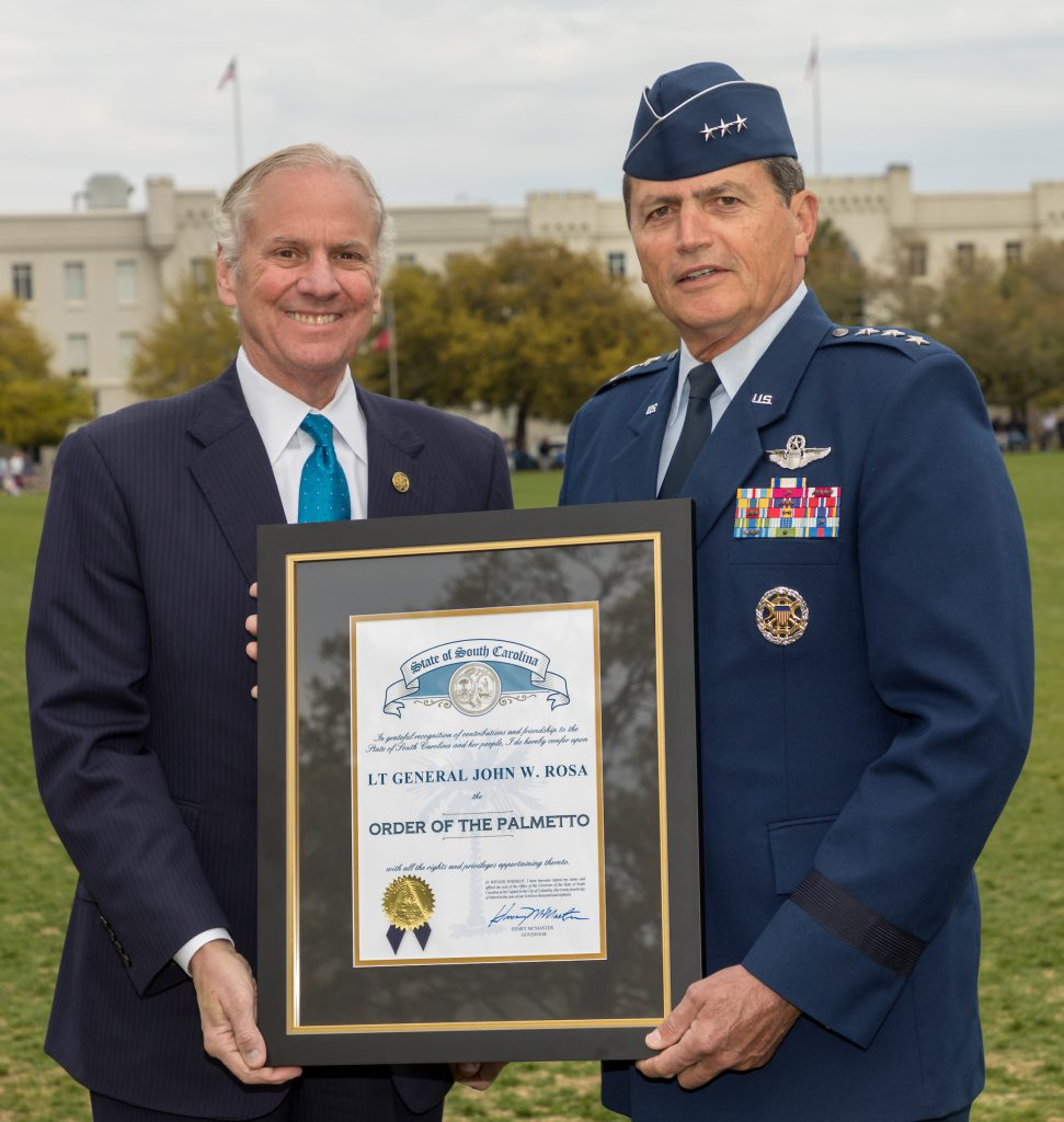 Governor McMaster General John Rosa Citadel Order of the Palmetto