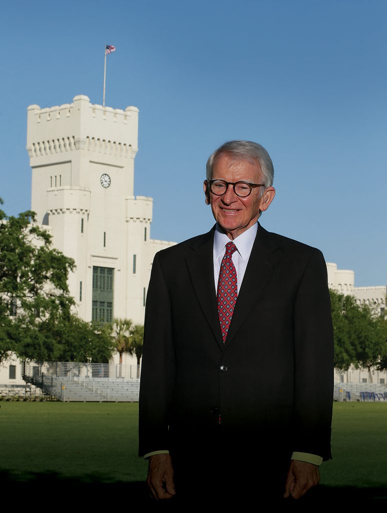 Former Mayor Joe Riley Citadel Portrait
