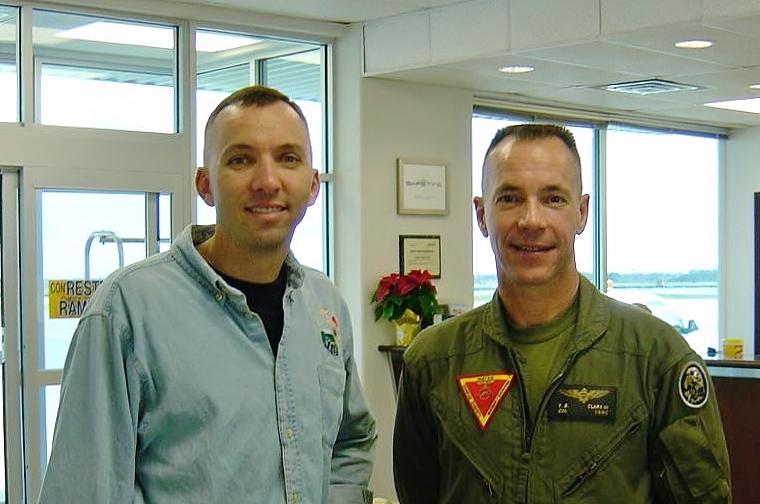 Randy Bresnik and Col. Tom Clark III