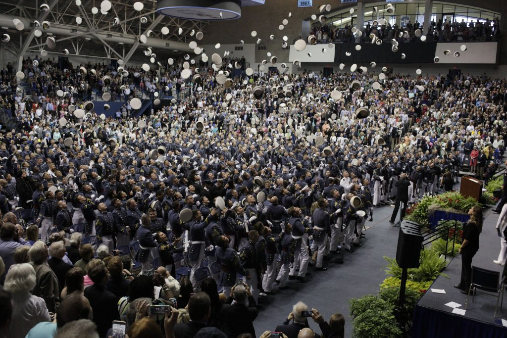 Tossing of Hats Citadel Commencement 2017