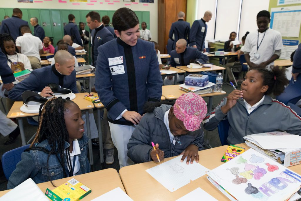Citadel Cadets at Local Schools for Leadership Day