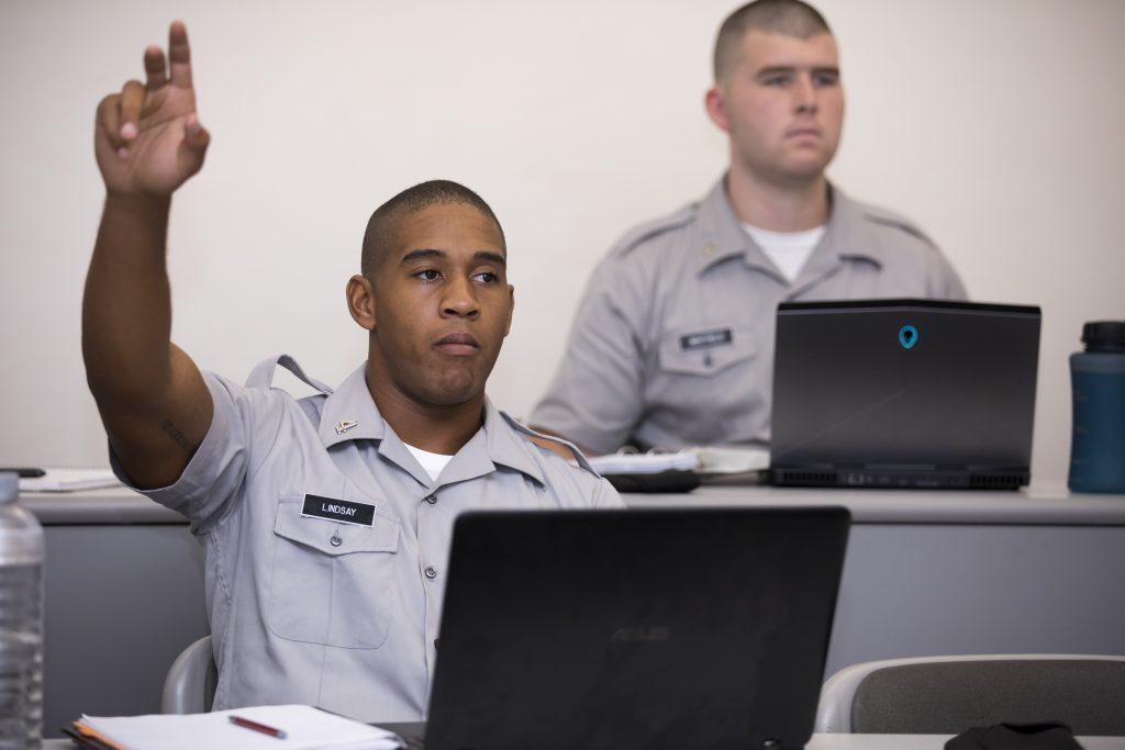 Citadel Cadets in Classroom