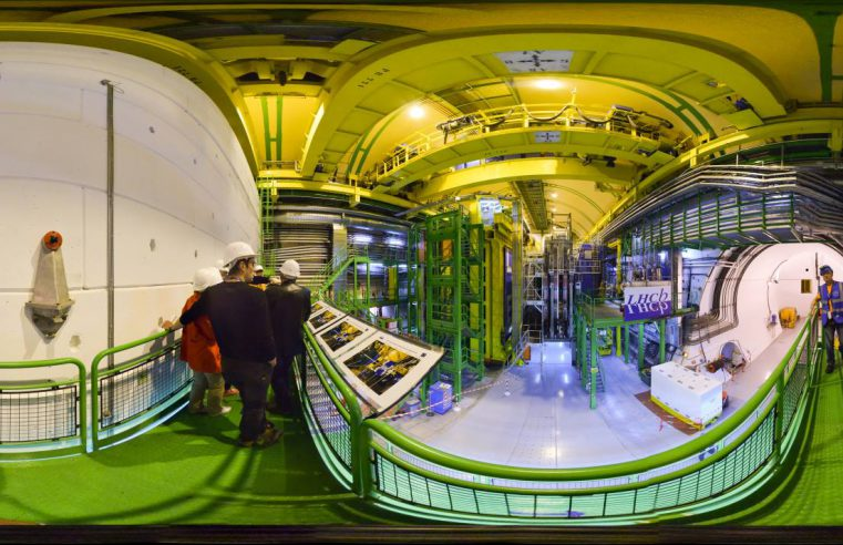 CERN underground chambers at the Large Hadron Collider in Geneva, Switzerland. Provided by CERN.