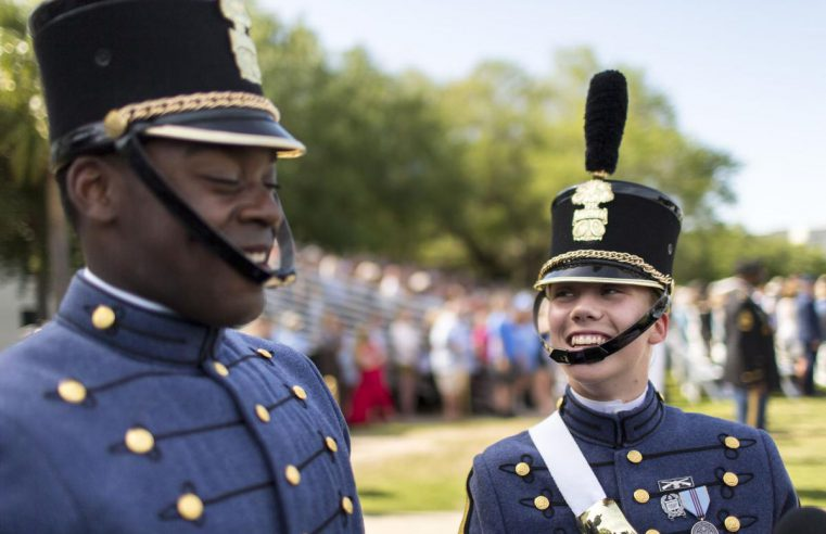 Cadets David Days and Sarah Zorn