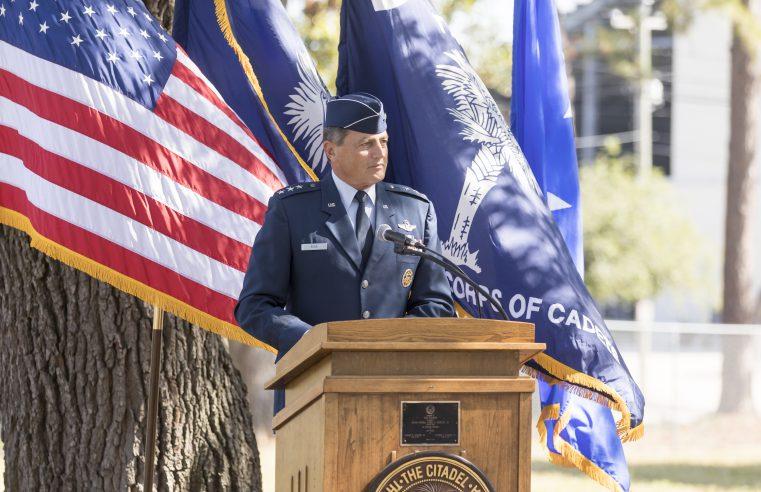 John Rosa Citadel President at Podium