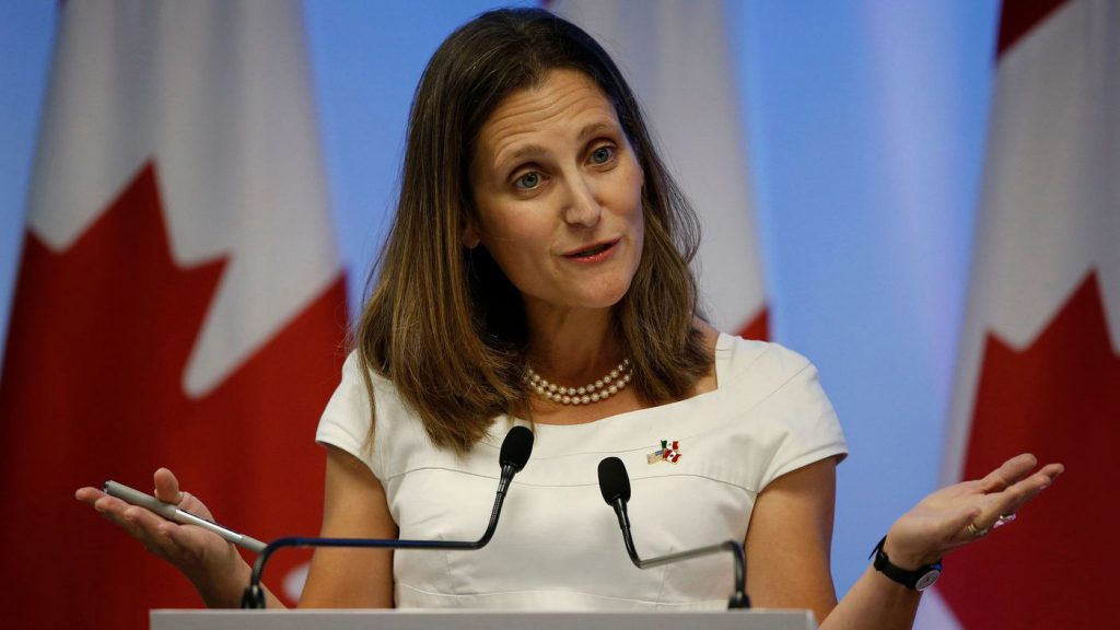Chrystia Freeland press conference