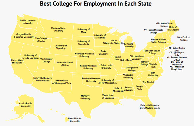 Thrillist Colleges Land You Jobs