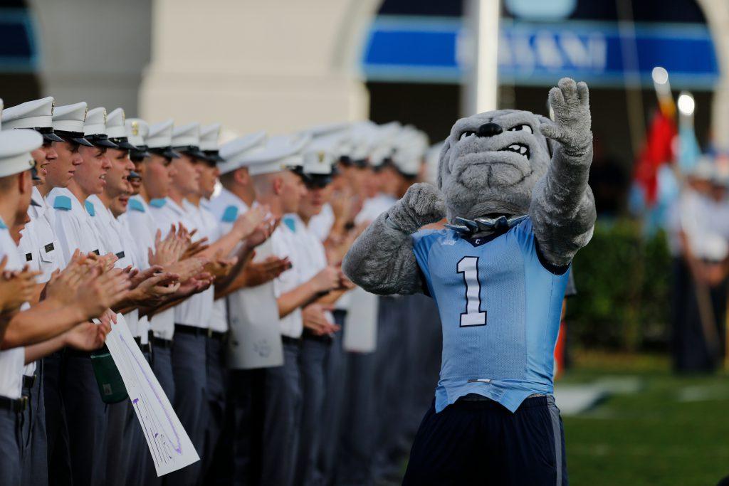 Citadel Bulldogs Mascot Spike