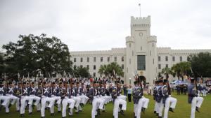 Citadel cadets marching