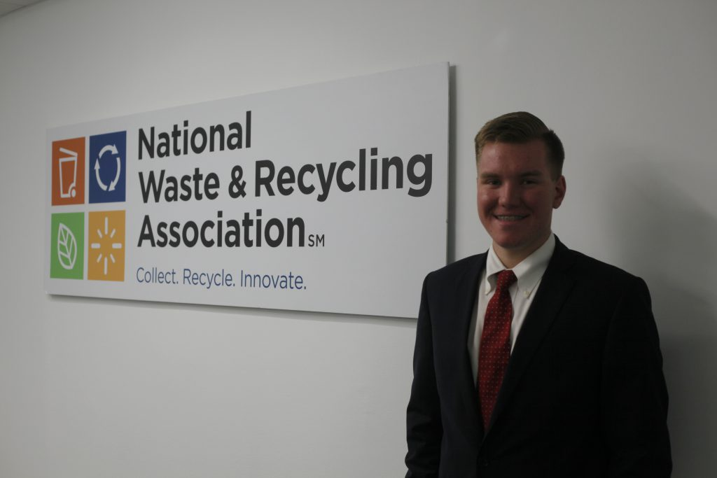 Ryan Adkins, National Waste and Recycling Association internship
