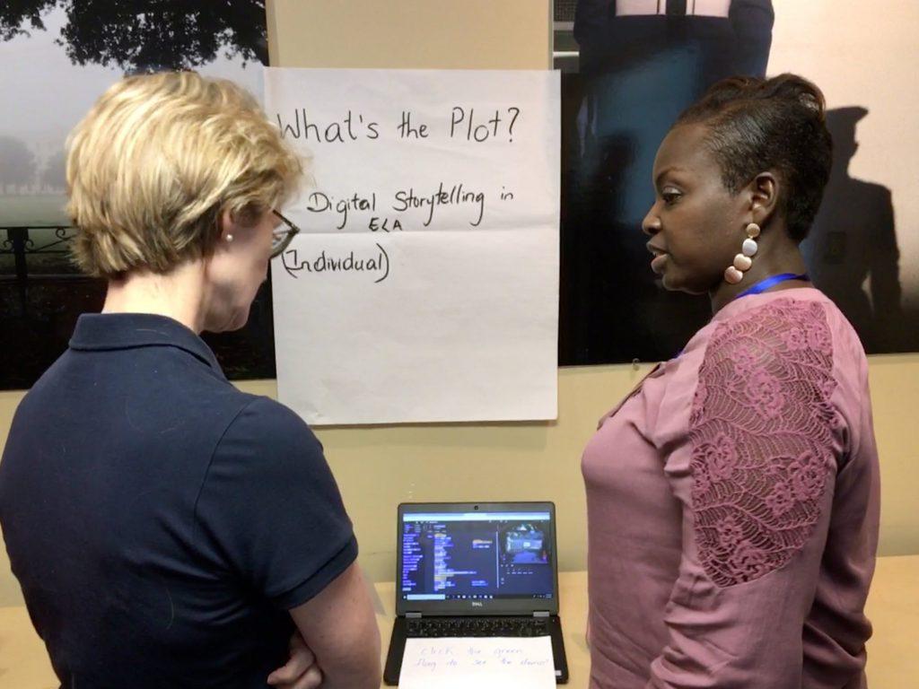 Infusing computing digital storytelling presentation