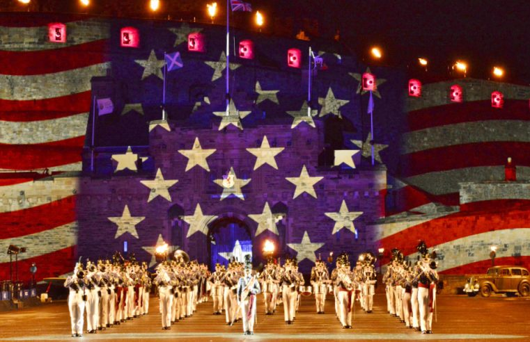 The Citadel as America's Band 2015 at Royal Edinburgh Military Tattoo