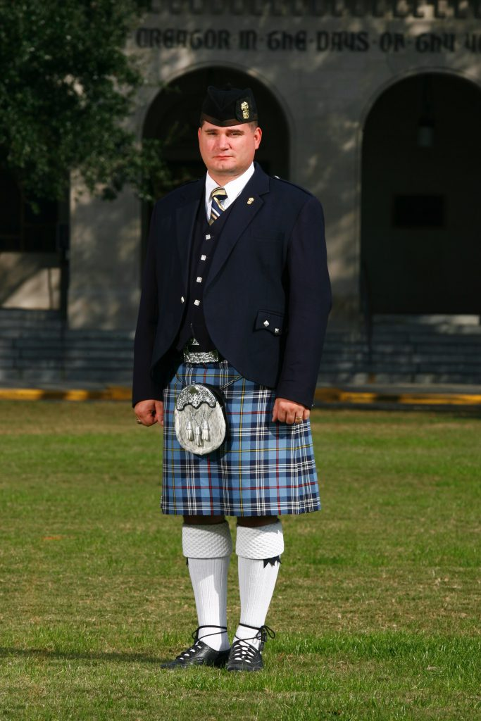 Citadel Pipe Band director Jim Dillahey