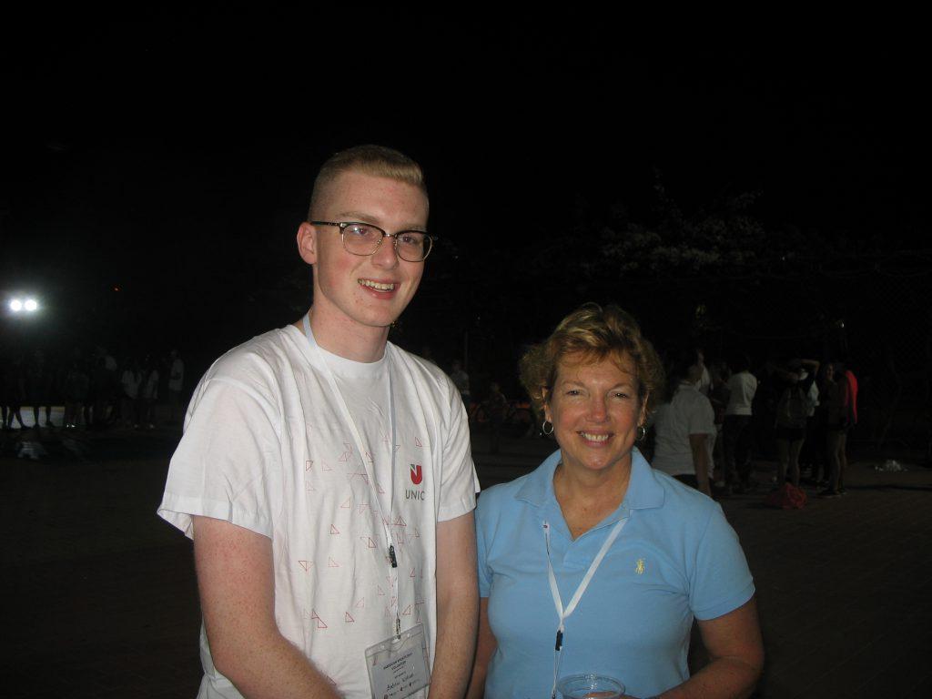 Andrew Williams With US Ambassador