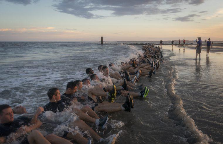 Cadre training on Folly Beach