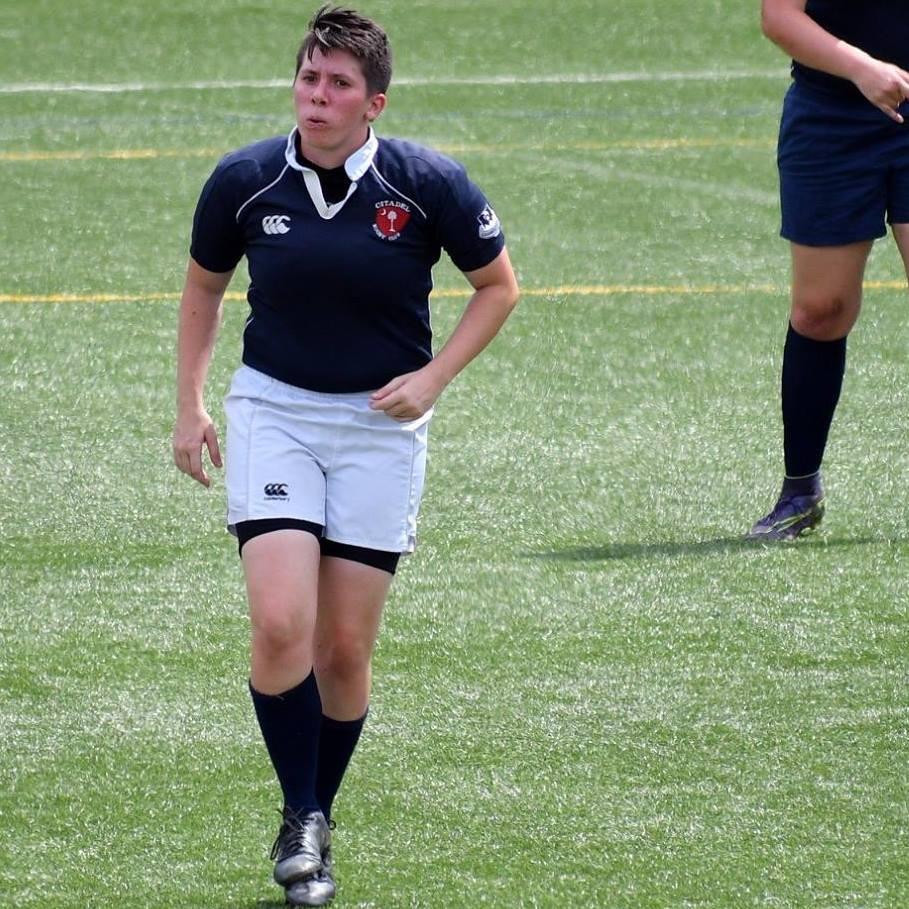 Cadet Hunter Crawley, President of The Citadel Women's Rugby Team