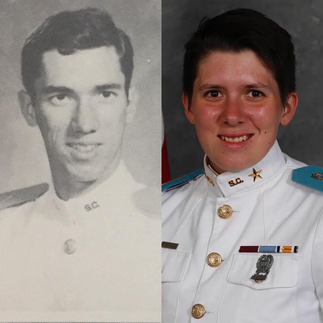 Cadet Ronald Crawley, '83 and Cadet Hunter Crawley, Class of 2019