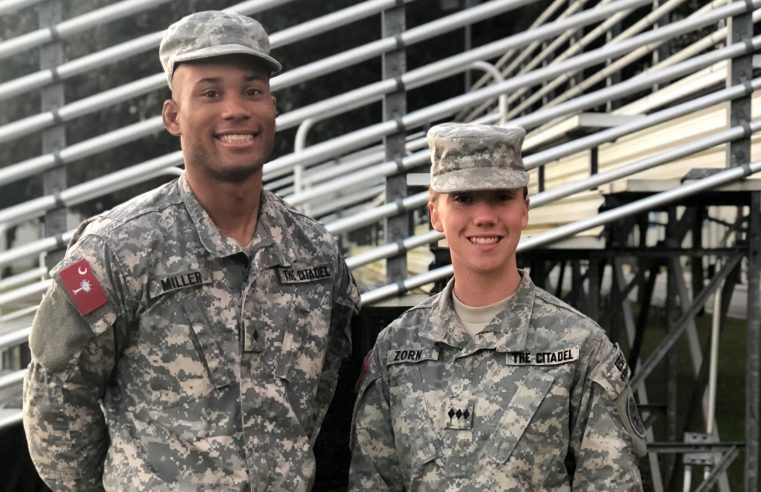 Cadets Logan Miller and Sarah Zorn, The Citadel