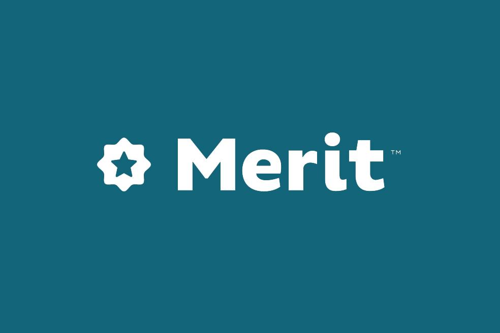 merit logo card
