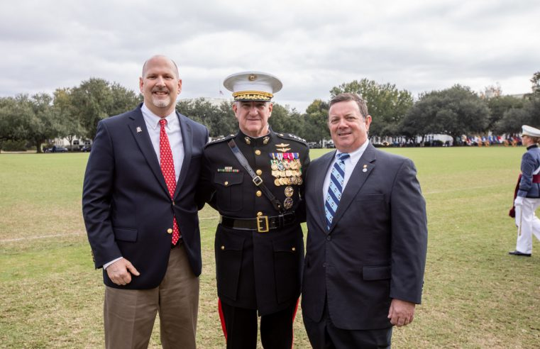 Citadel 2018 Alumnus of the Year, Lt. Col. Doug Kelley, US Army (Ret.) on left