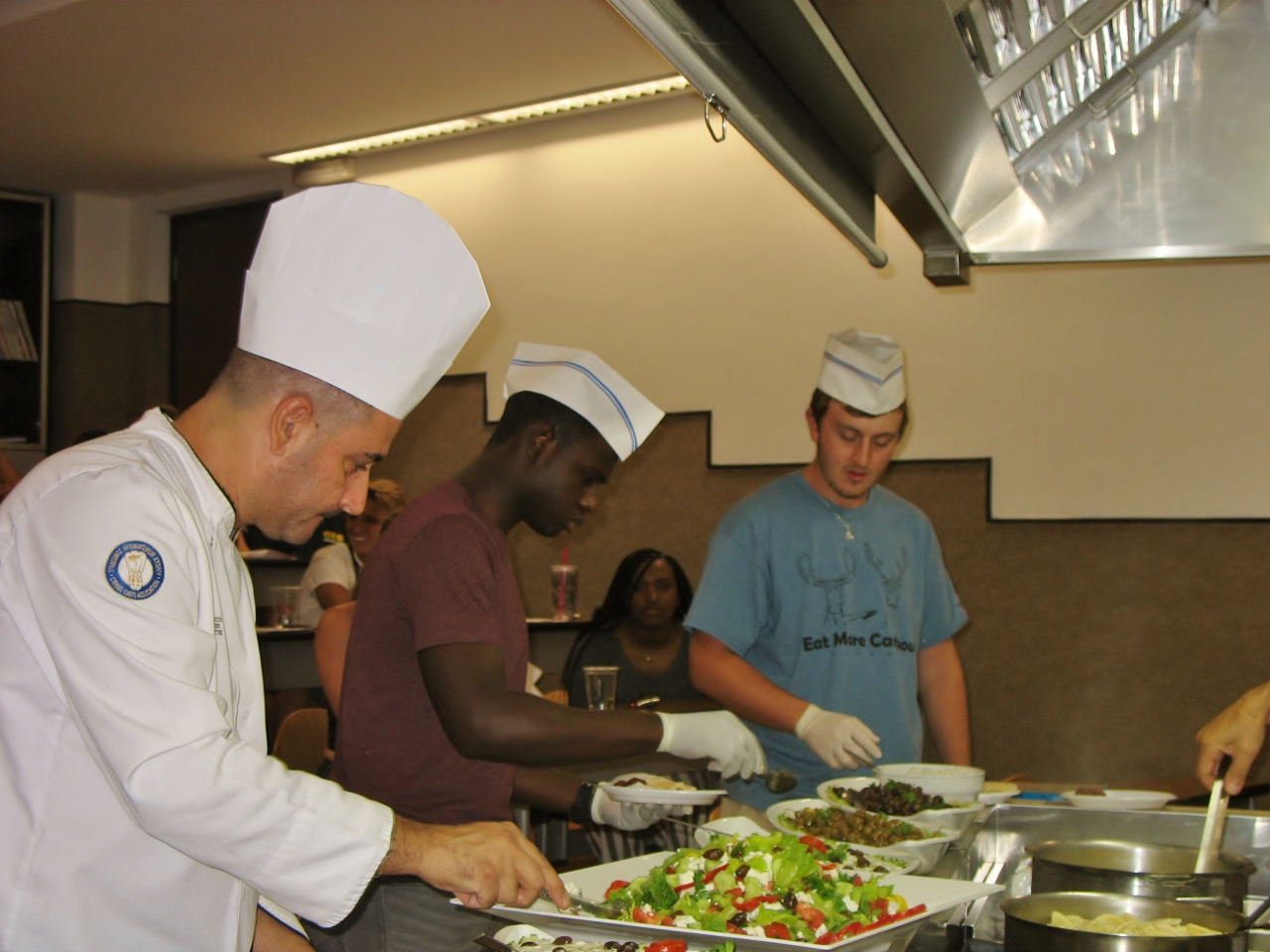 Citadel Global Scholars in Cyprus learning how to cook Cypriot style