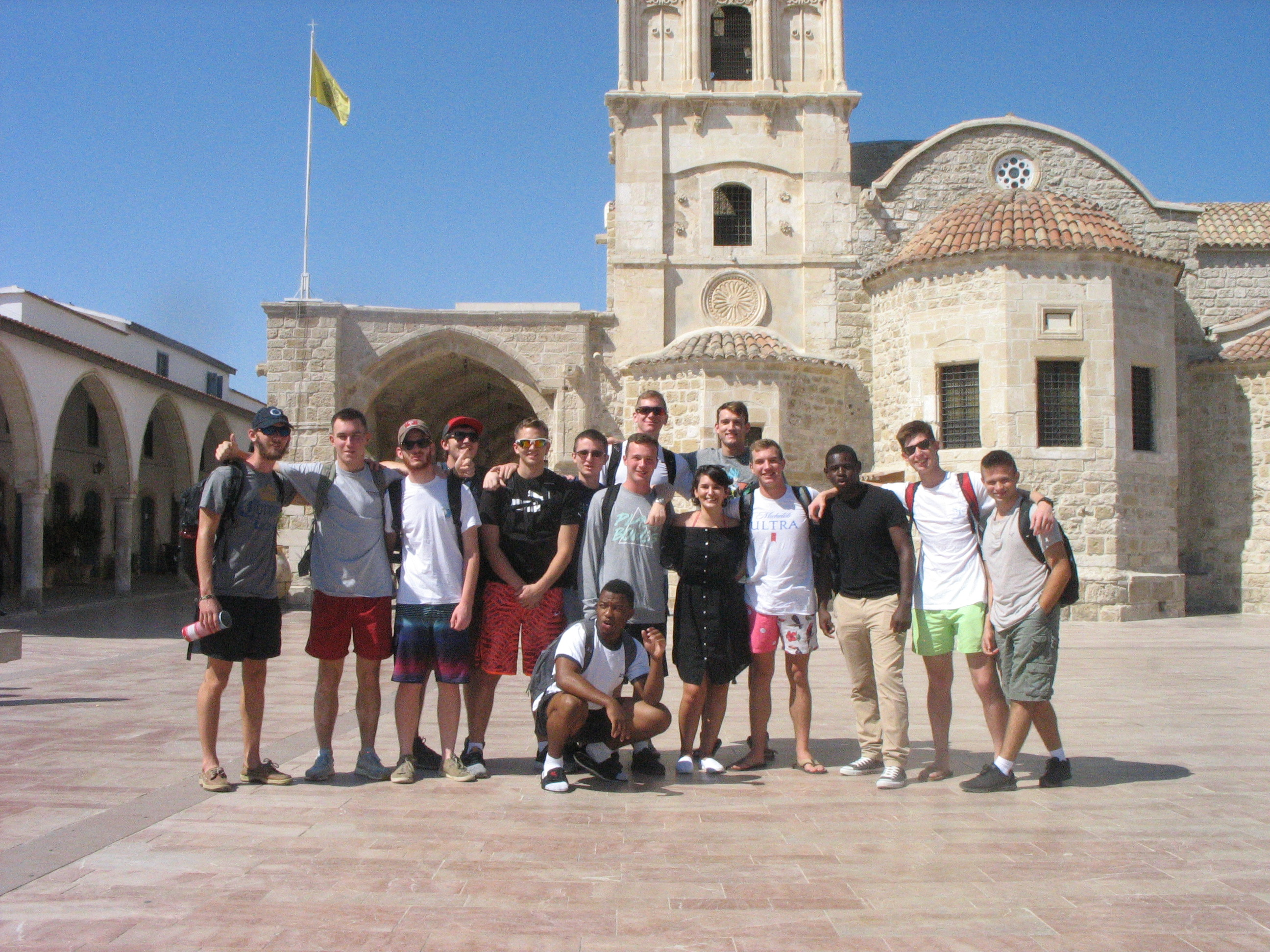 Citadel cadets at the Lazarus Church in Larnaca, Cyprus