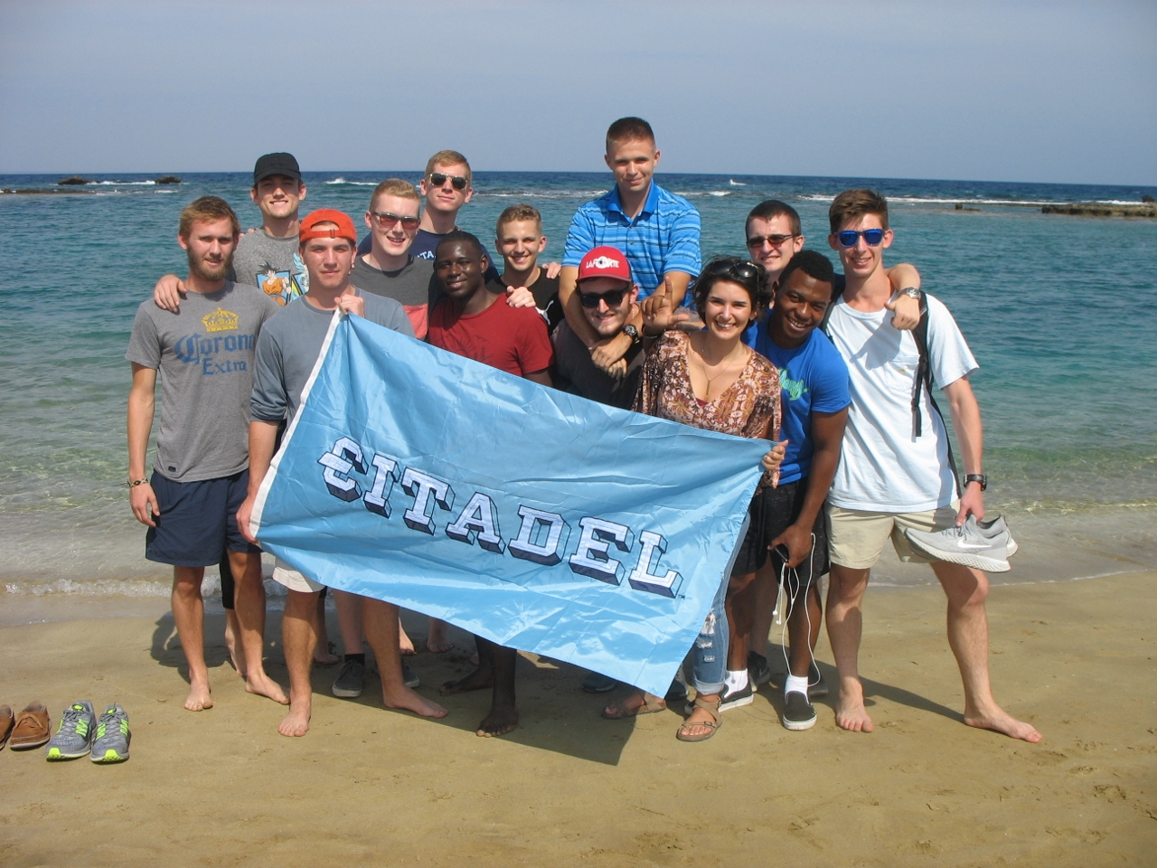 Citadel cadets at Famagusta Beach