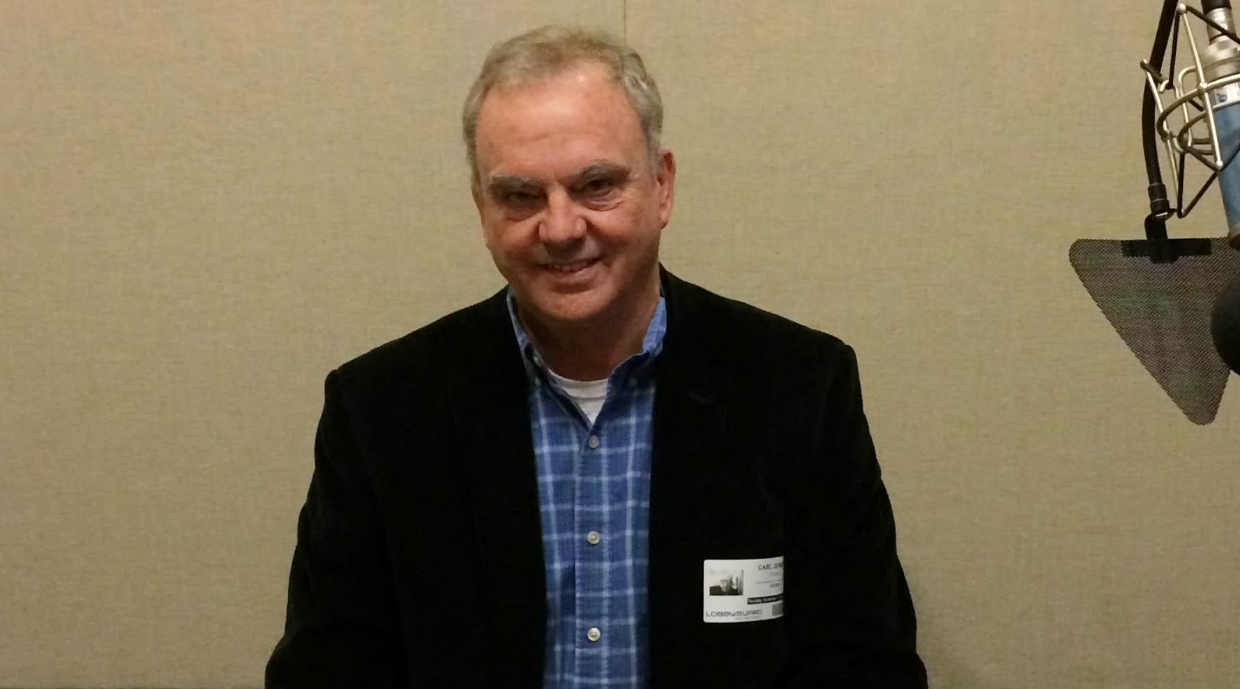 Dr. Carl Jensen at SC Public Radio studios