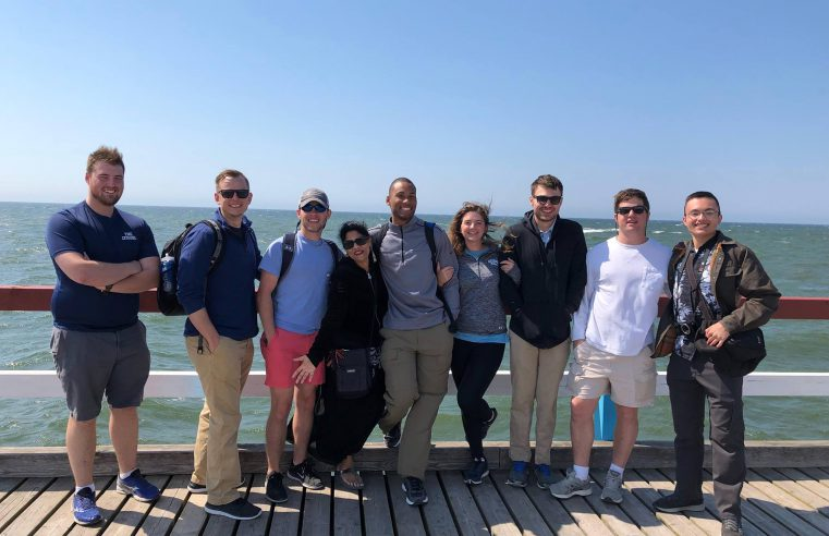 Citadel healthcare study abroad cadets with Dr. Sarah Imam in Lithuania.