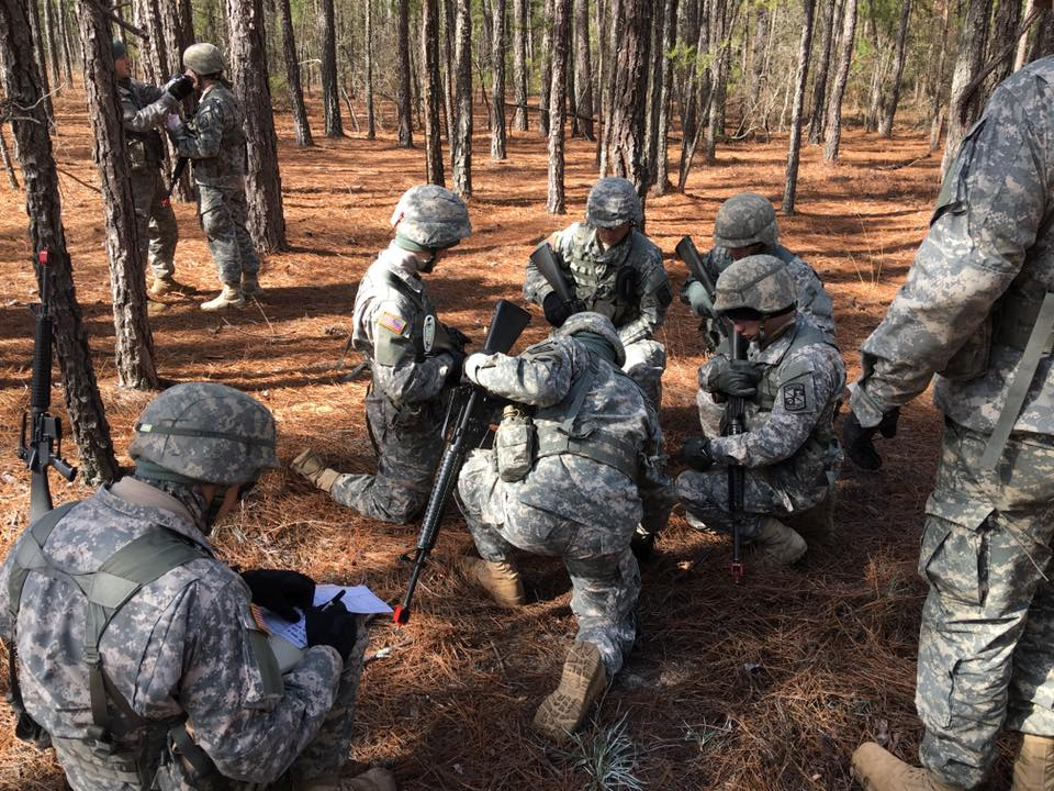 Citadel Army ROTC field training