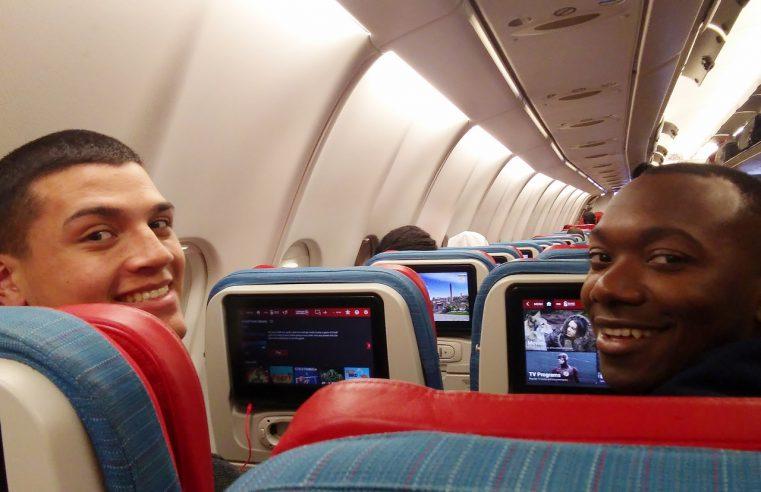 Cadets Elijah Melendez and Marcus Milhouse on Dec. flight to Rwanda