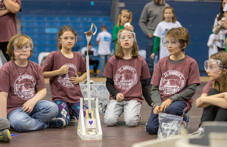 Students from St Andrew's School of Math and Science compete in the Trebuchet competition at Storm The Citadel 2017