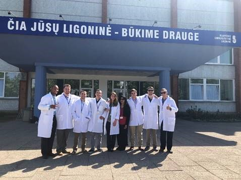 Citadel healthcare study abroad cadets while in Lithuania