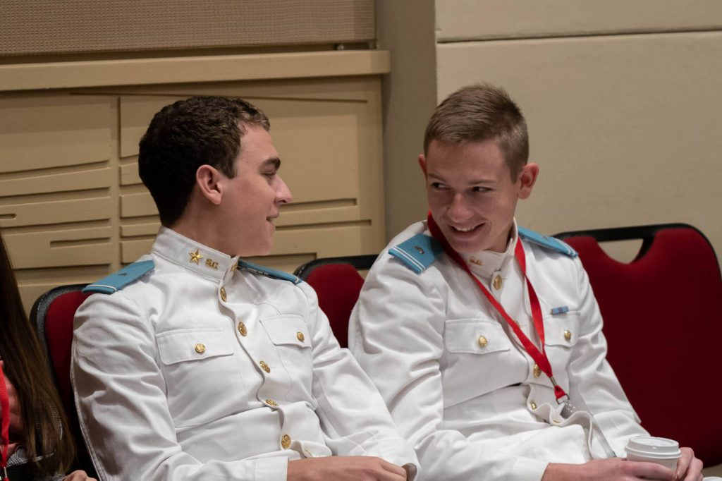 Cadets Andrew Mappus and William (Miller) Brunson
