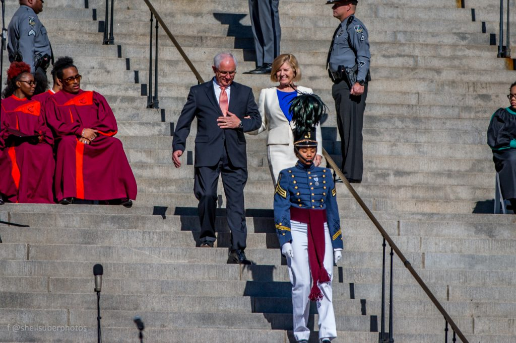 Citadel cadet escorting VIP guests at Gov. McMaster inauguration