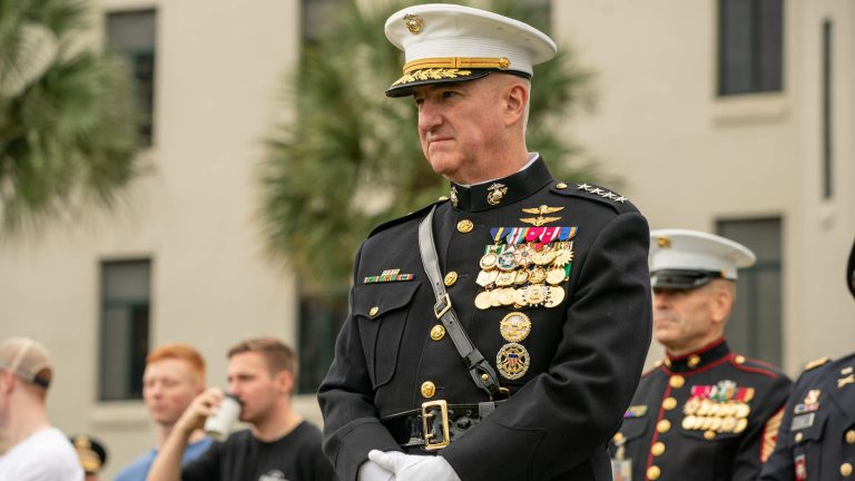 General Glenn Walters Citadel Parade Review