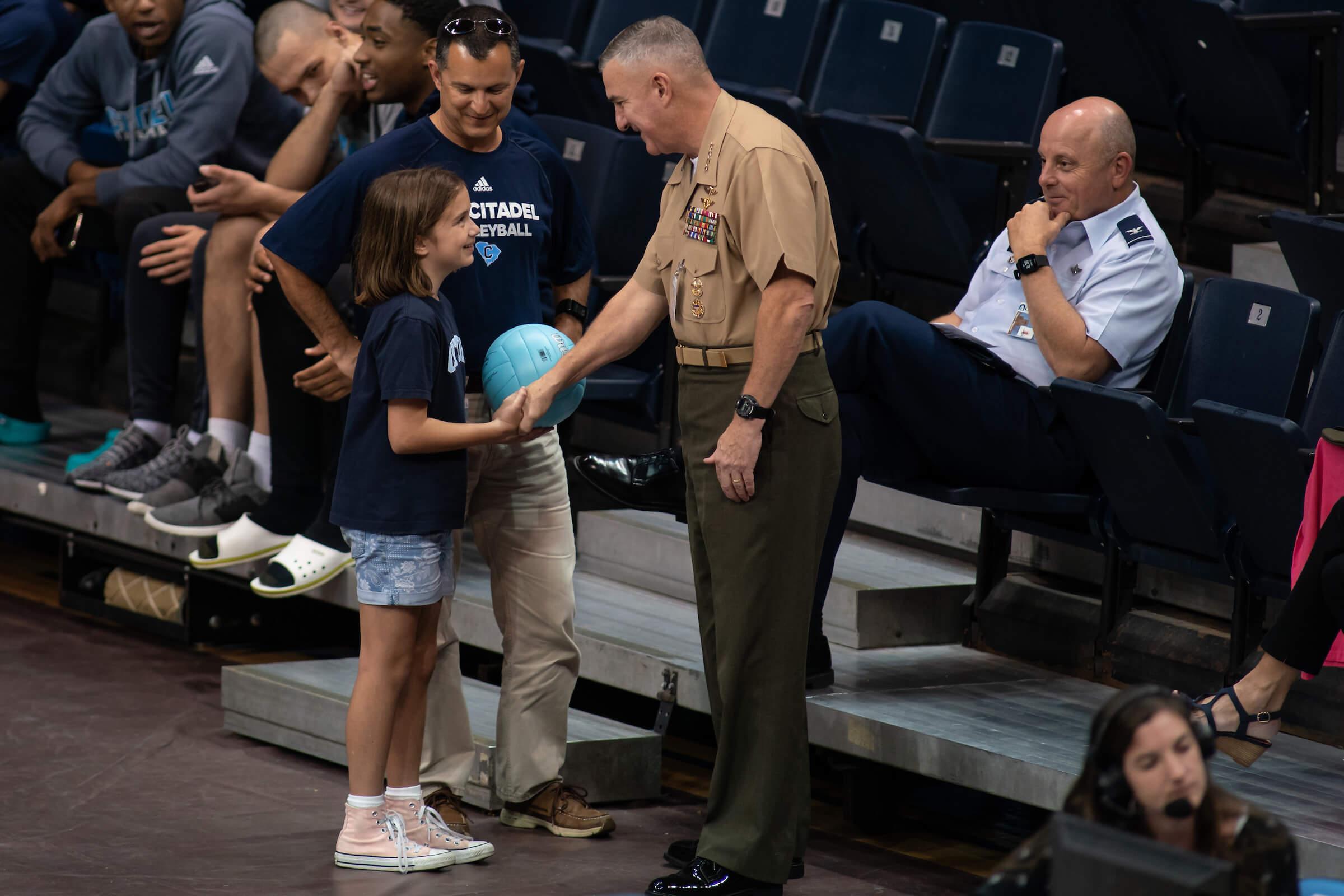 General Glenn Walters Citadel President Volleyball