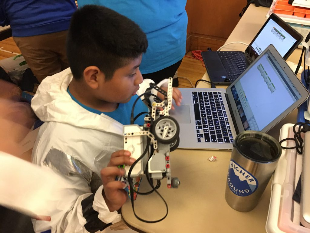 Student participates in the robotics competition during Storm The Citadel 2019
