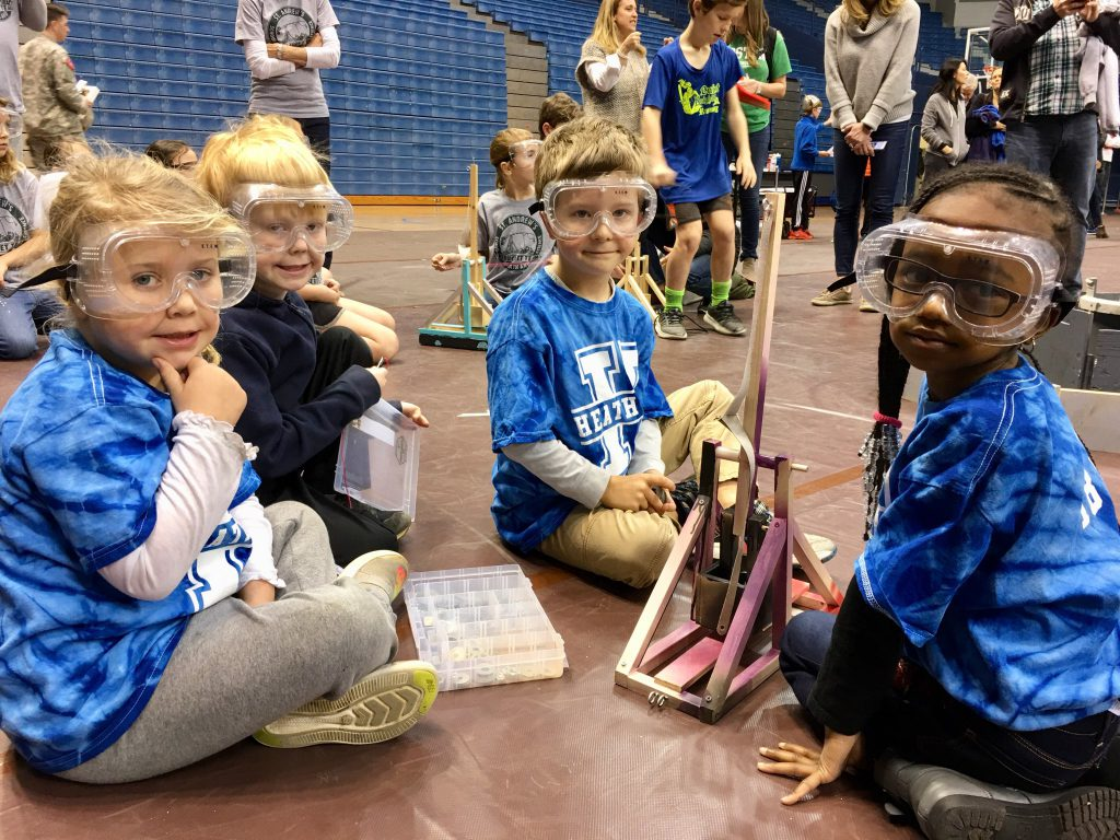Kindergarten Trebuchet team from Healthwood Elementary School