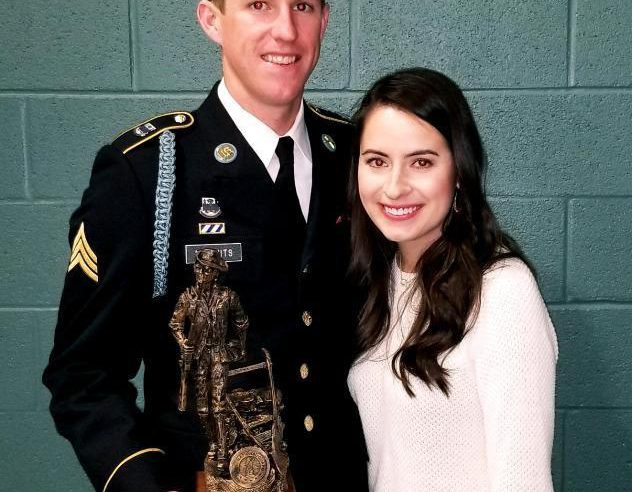 "Sgt. James Spencer McCants after he is awarded the coveted ""Best Warrior Non-Commissioned Officer"""