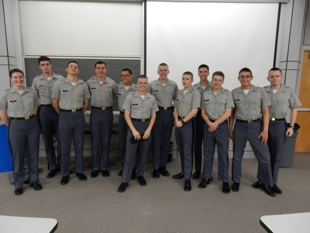 Cadets participating in 2019 Math Jeopardy