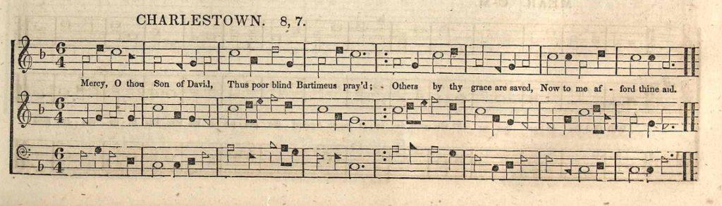 Charlestown shape note music