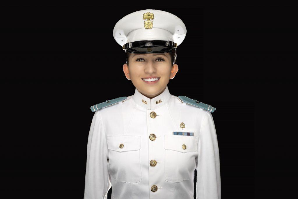 Cadet Daniela Sanchez Martinez featured in airport campaign