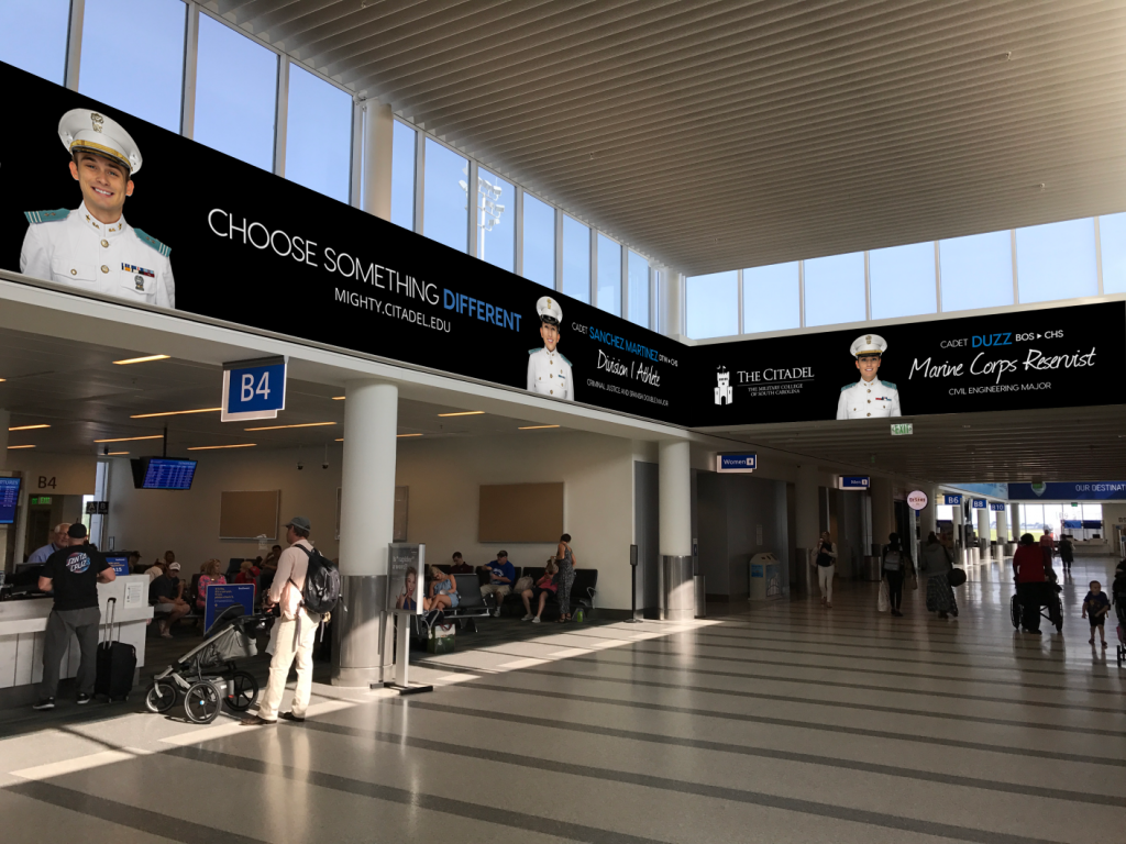 Citadel cadets featured in airport advertisement