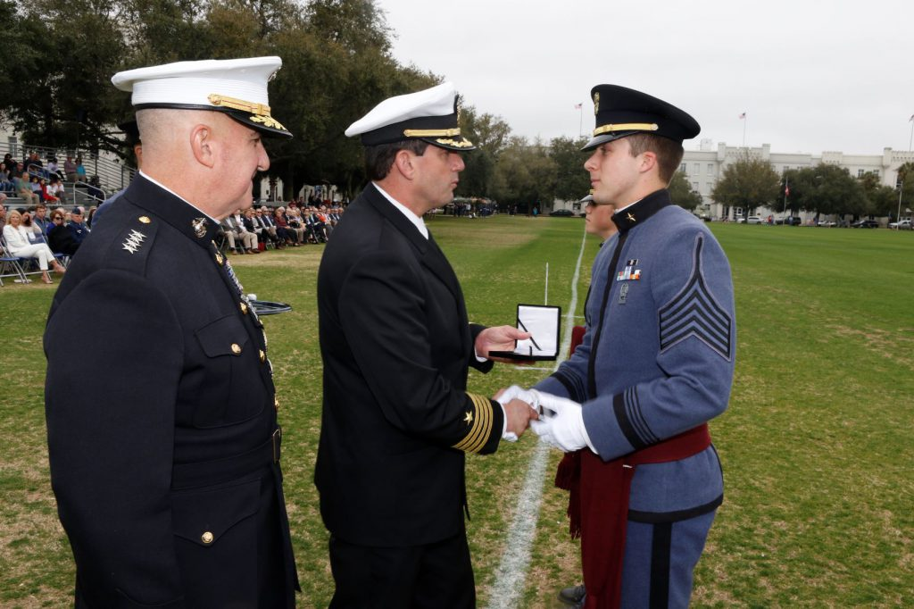 Cadet Lt. Col. Mitchell Felt presented with the General Douglas MacArthur Cadet of the Year Award