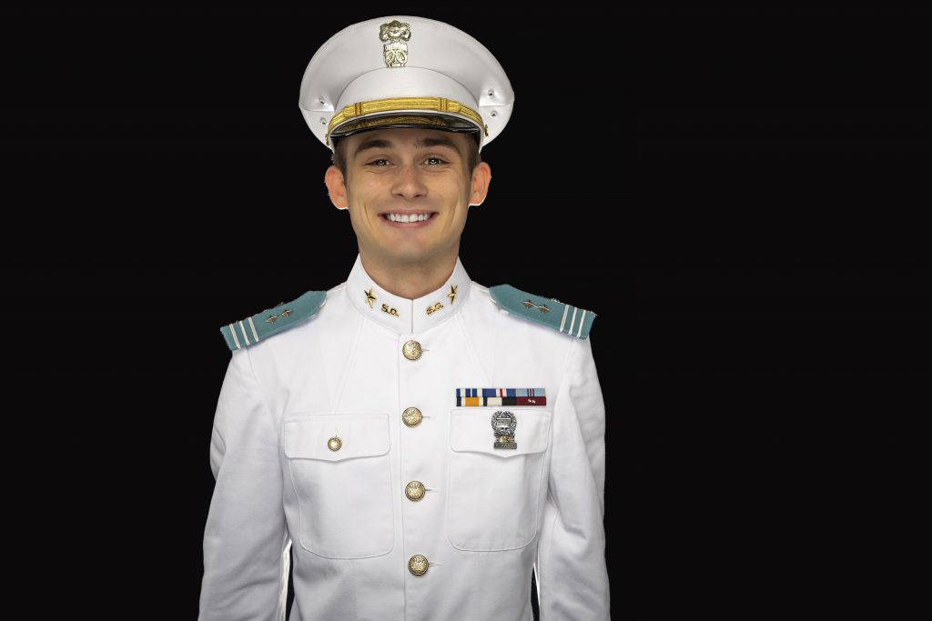 Cadet Matthew Lanetti featured in airport campaign