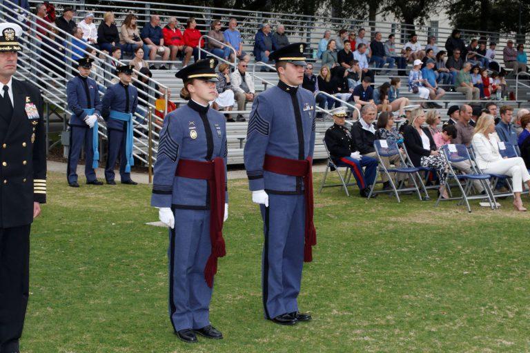 Cadets Sarah Zorn and Mitchell Felt at awards parade