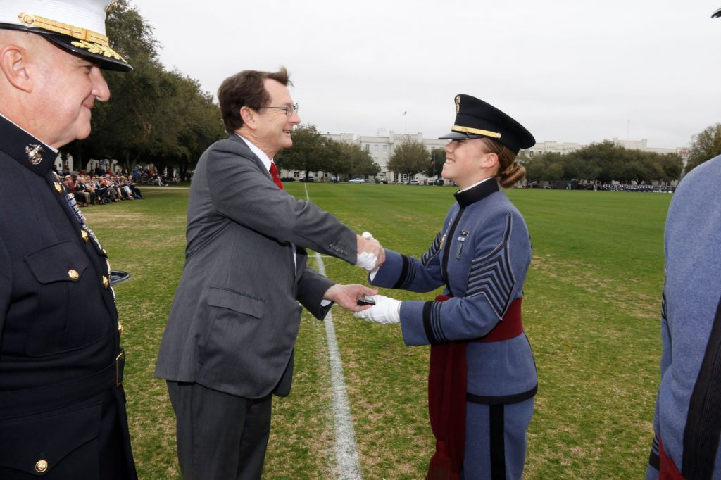 Cadet Col. Sarah Zorn awarded the Society of the Cincinnati Medal