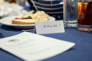 Baker awards table setting