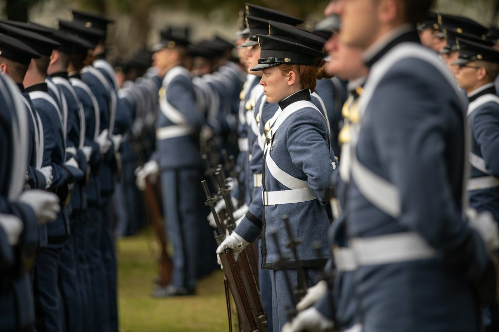 Citadel Cadets at Parade